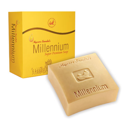 Mysore Sandal Soap, Mysore Sandalwood Millennium Soap, Millennium, Sandal, Sandalwood, Beauty, Skincare, Spa, Hermes, India