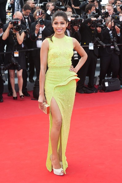 Freida Pinto, Frieda, Cannes, 2012, Versace, Indian, Bollywood, Fashion, Aishwarya